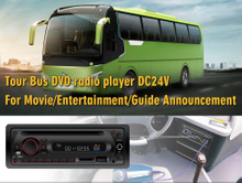 Single DIN Bus & Coach Reproductor de DVD 12 / 24V